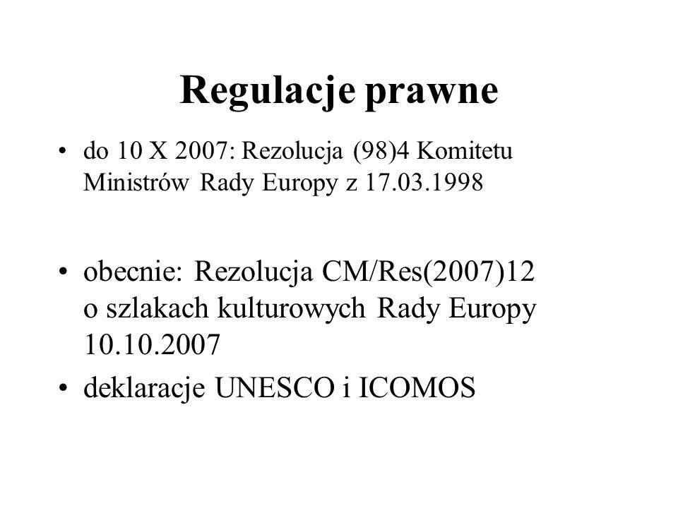 Regulacje prawne do 10 X 2007: Rezolucja (98)4 Komitetu Ministrów Rady Europy z 17.03.1998.