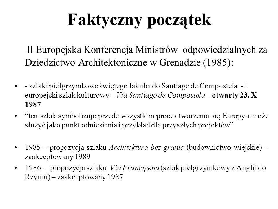 Faktyczny początek II Europejska Konferencja Ministrów odpowiedzialnych za Dziedzictwo Architektoniczne w Grenadzie (1985):