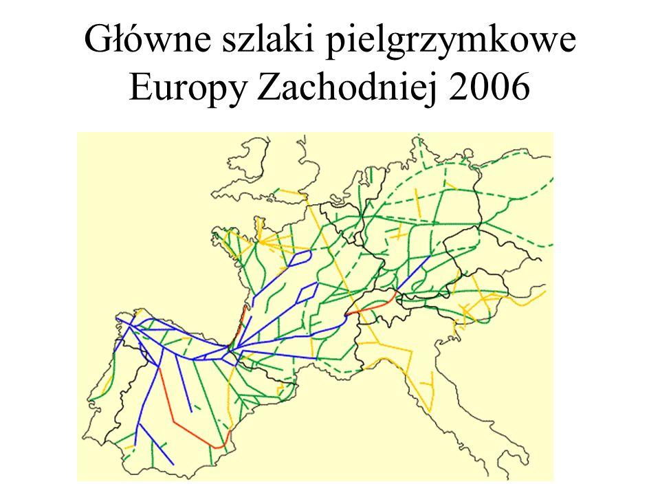 Główne szlaki pielgrzymkowe Europy Zachodniej 2006