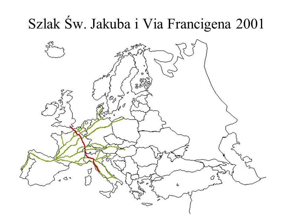 Szlak Św. Jakuba i Via Francigena 2001