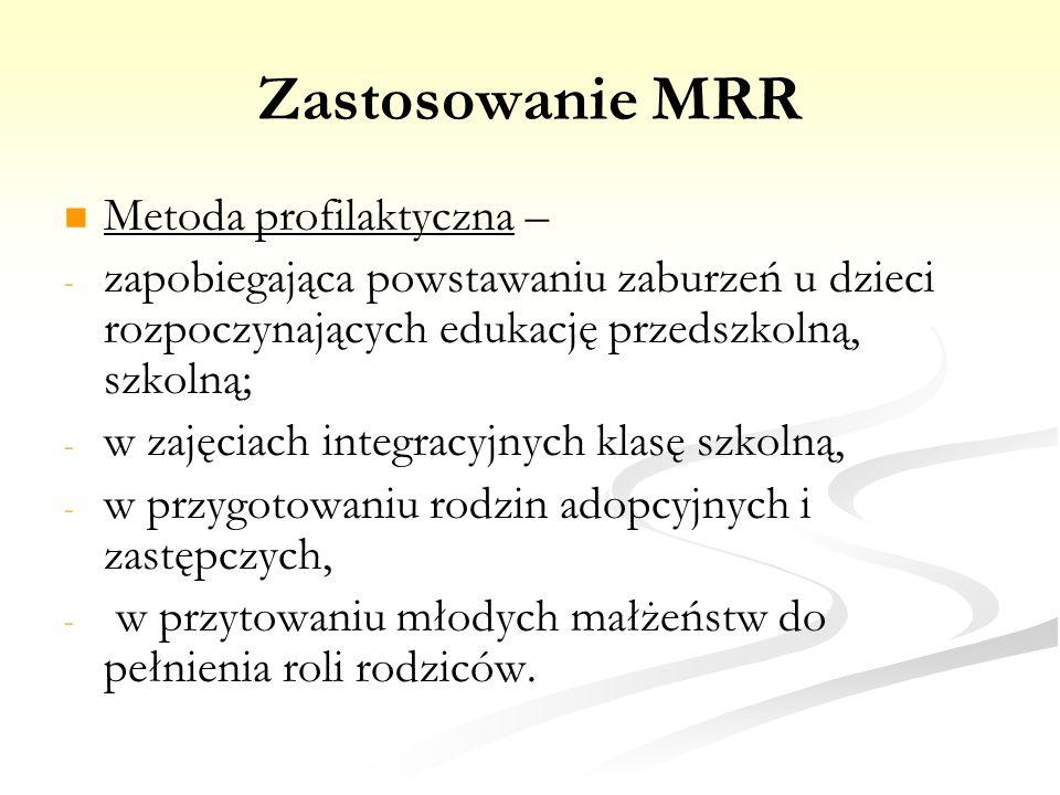 Zastosowanie MRR Metoda profilaktyczna –