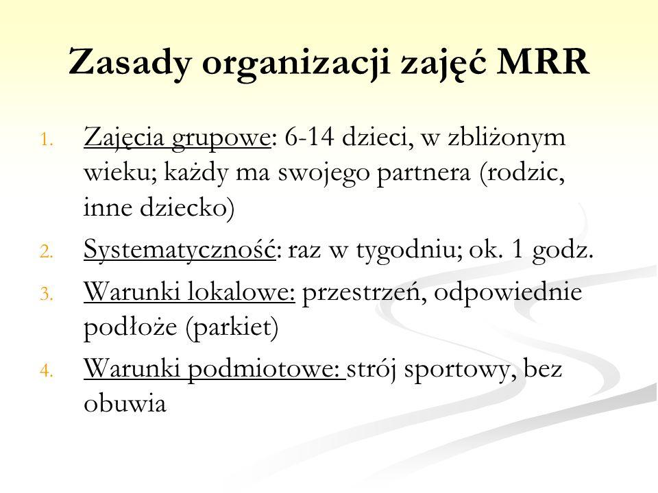 Zasady organizacji zajęć MRR