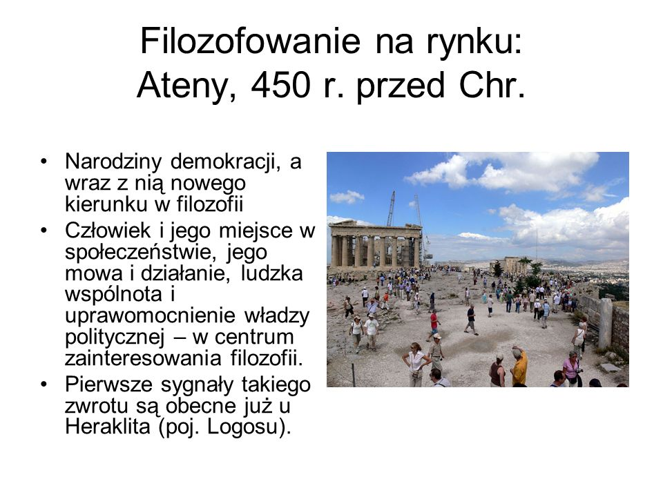 Filozofowanie na rynku: Ateny, 450 r. przed Chr.