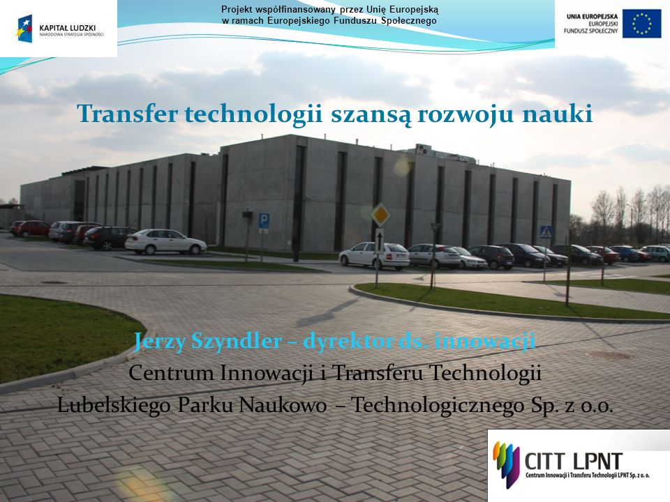 Transfer technologii szansą rozwoju nauki