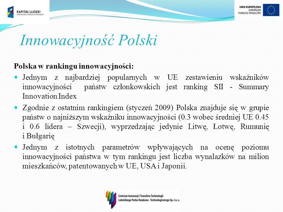 Innowacyjność Polski Polska w rankingu innowacyjności:
