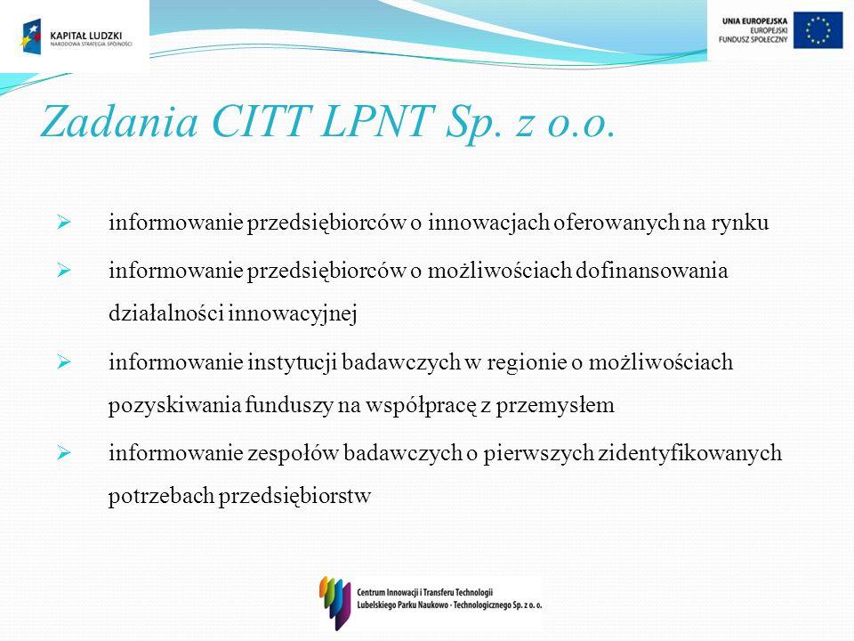 Zadania CITT LPNT Sp. z o.o.