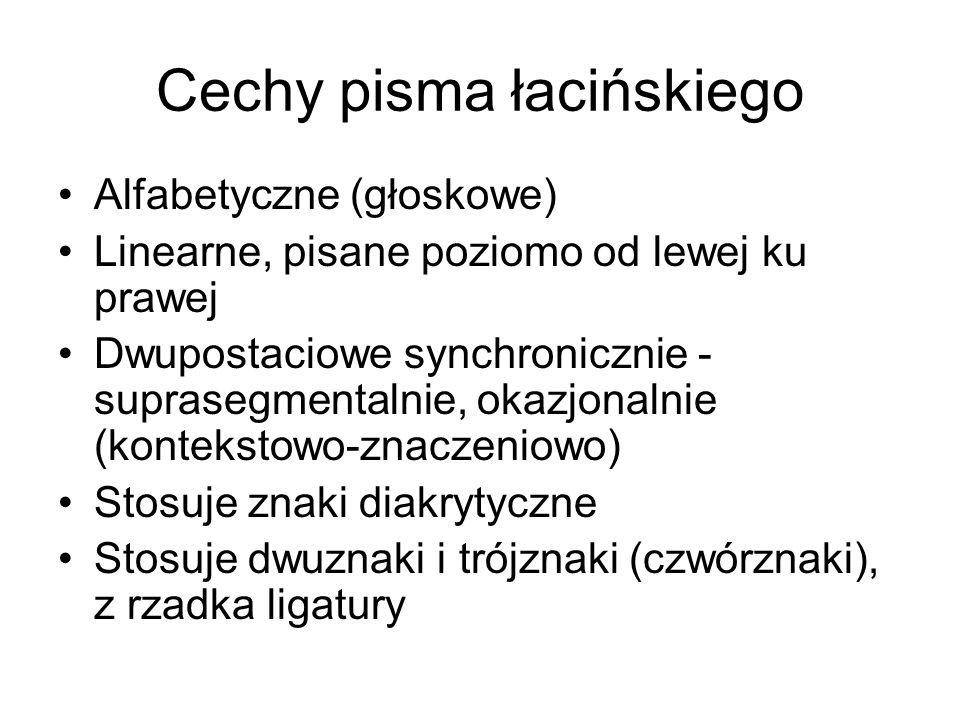 Cechy pisma łacińskiego