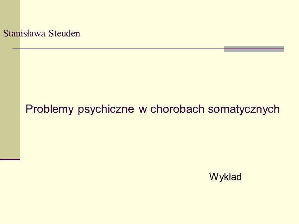 Problemy psychiczne w chorobach somatycznych