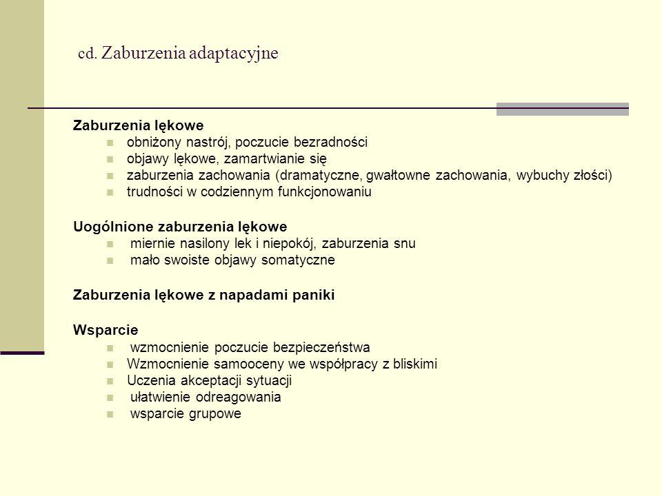 cd. Zaburzenia adaptacyjne