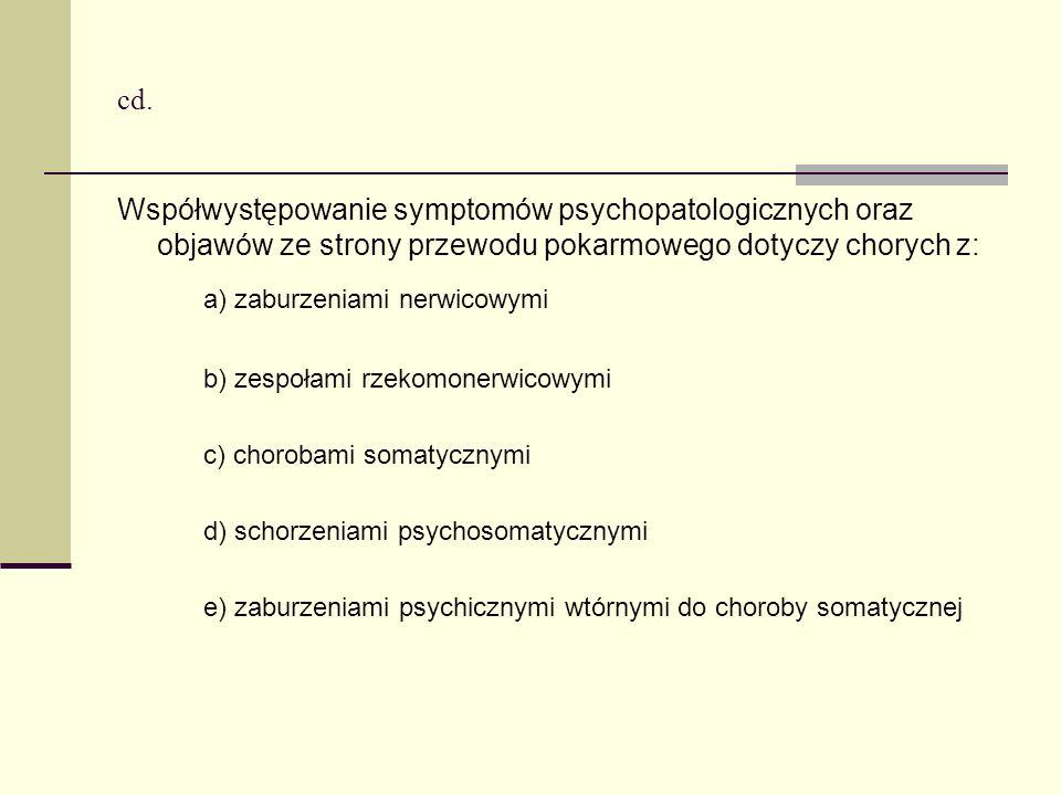 a) zaburzeniami nerwicowymi