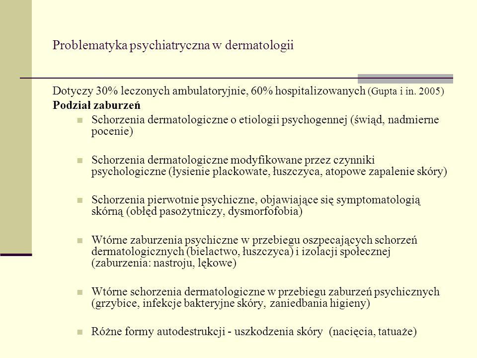 Problematyka psychiatryczna w dermatologii