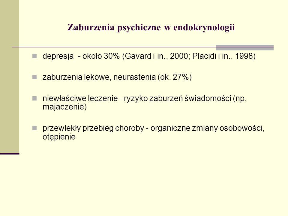 Zaburzenia psychiczne w endokrynologii