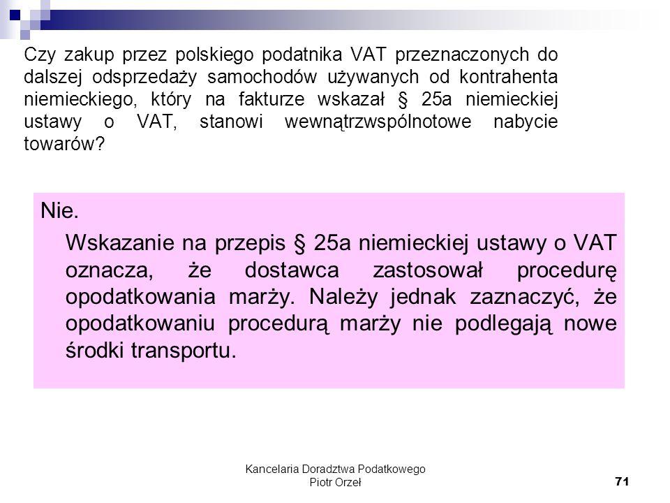 Kancelaria Doradztwa Podatkowego Piotr Orzeł
