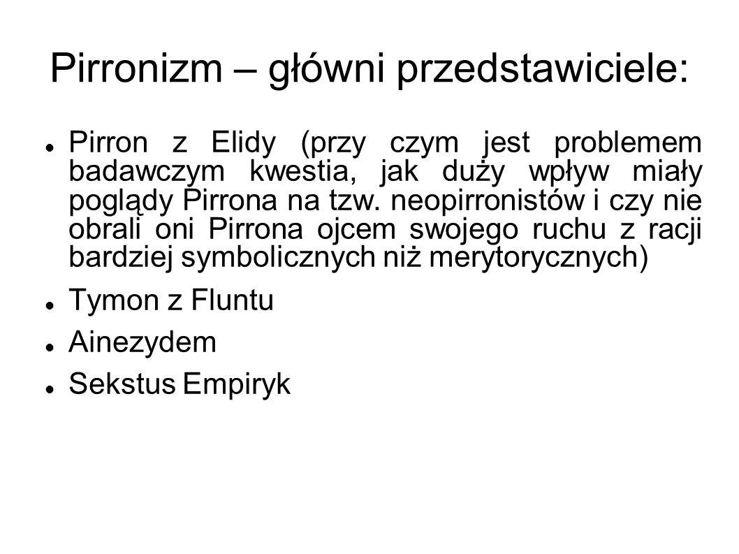Pirronizm – główni przedstawiciele:
