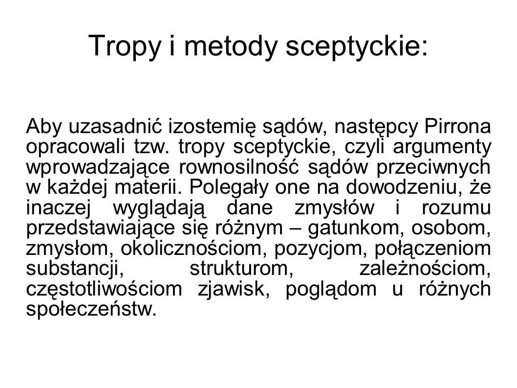 Tropy i metody sceptyckie: