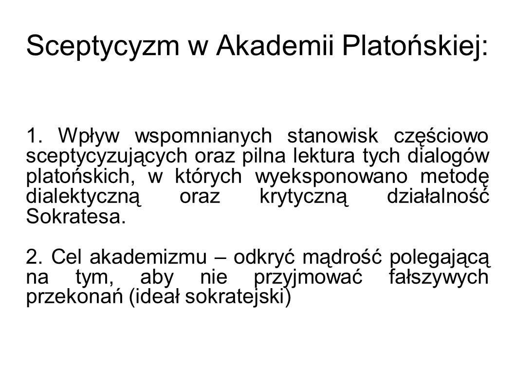 Sceptycyzm w Akademii Platońskiej: