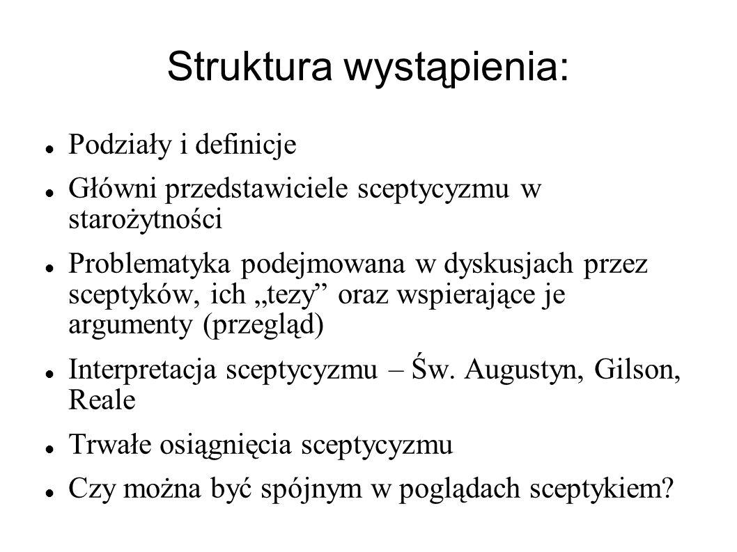 Struktura wystąpienia: