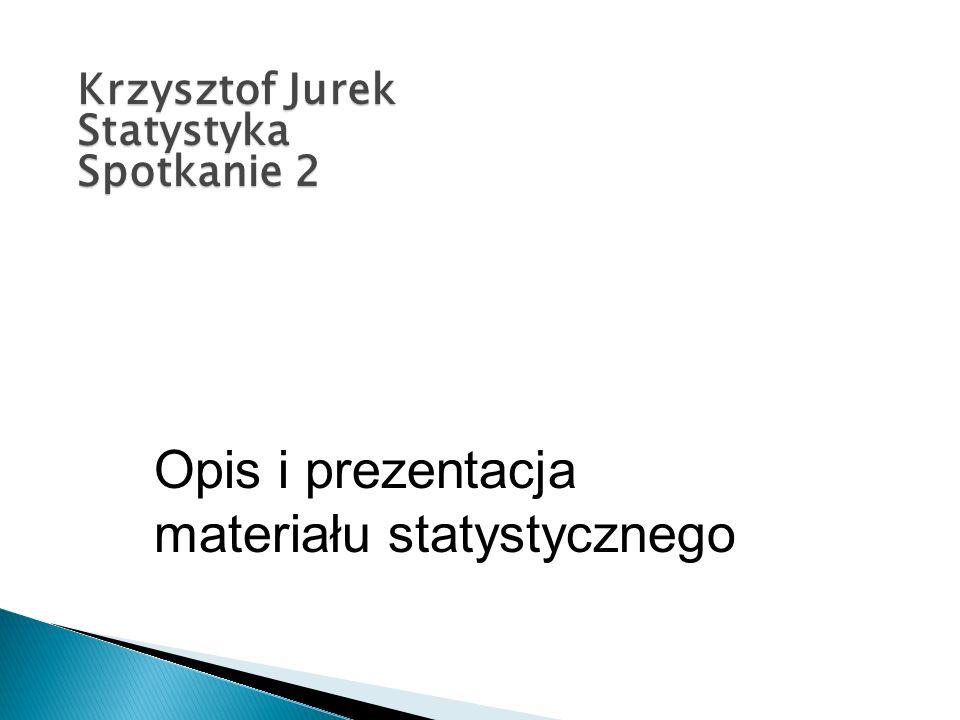 Opis i prezentacja materiału statystycznego