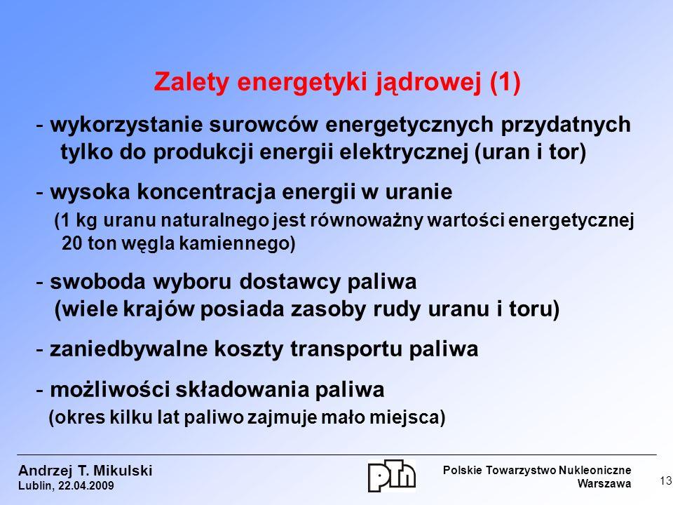 Zalety energetyki jądrowej (1)