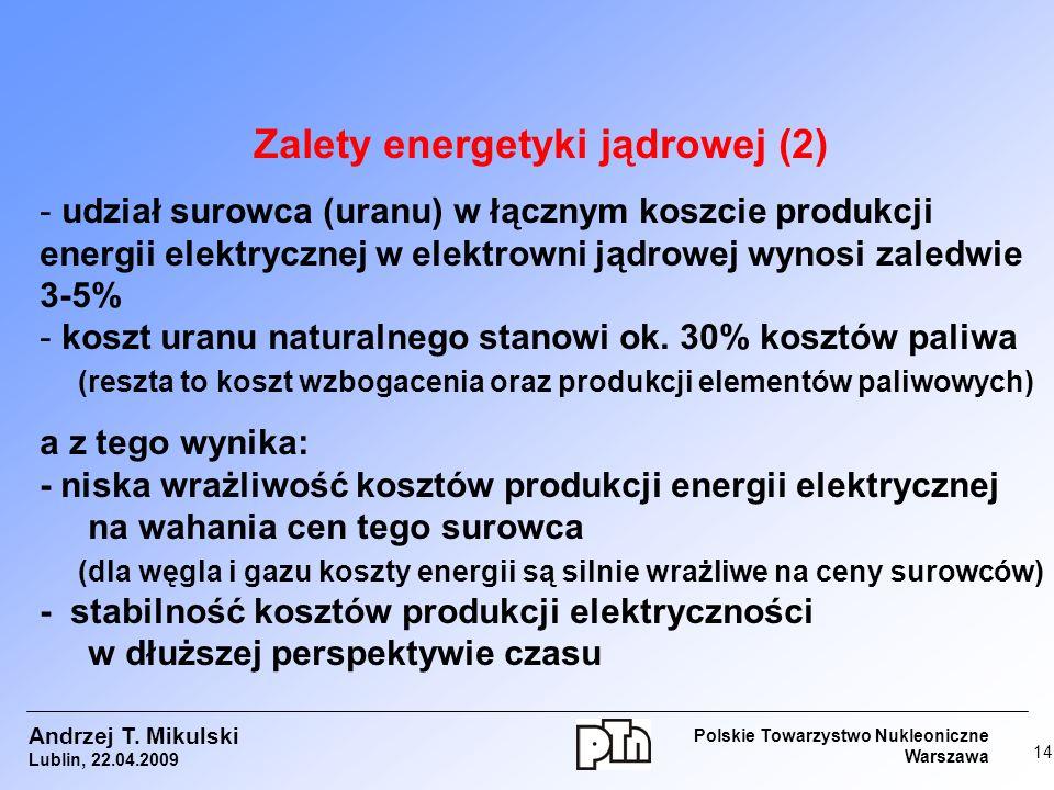 Zalety energetyki jądrowej (2)