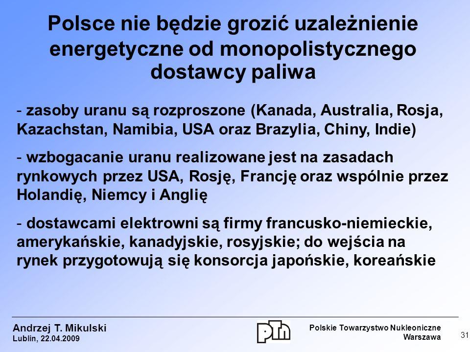 Polsce nie będzie grozić uzależnienie energetyczne od monopolistycznego