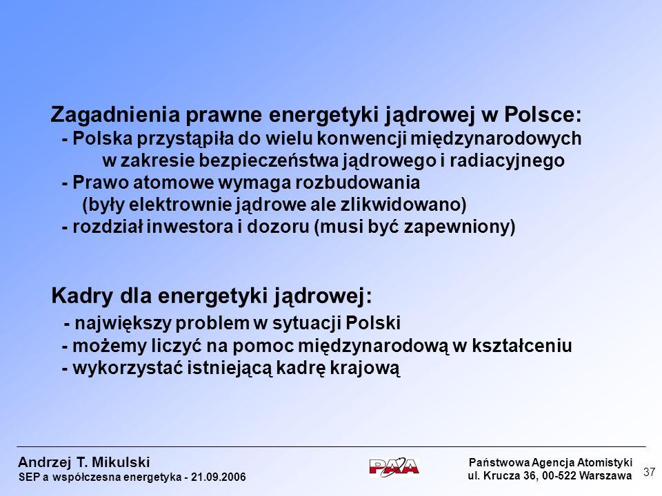 Zagadnienia prawne energetyki jądrowej w Polsce:
