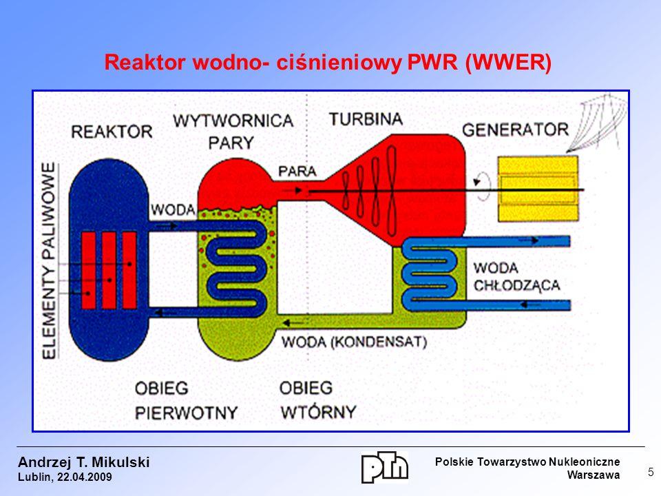 Reaktor wodno- ciśnieniowy PWR (WWER)