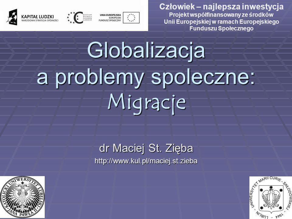 Globalizacja a problemy spoleczne: Migracje
