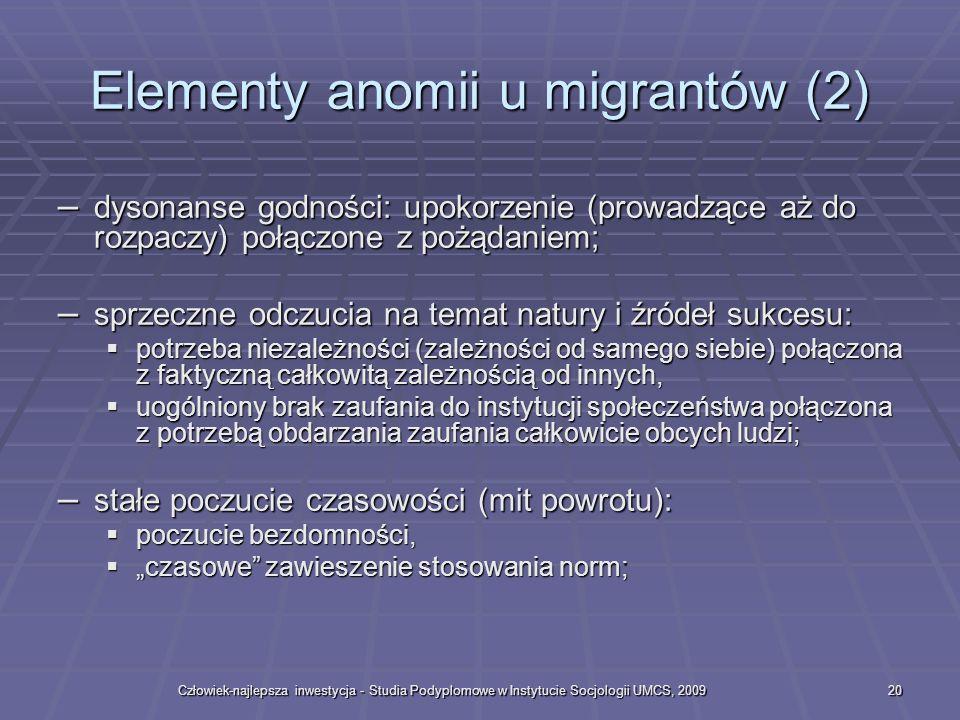 Elementy anomii u migrantów (2)