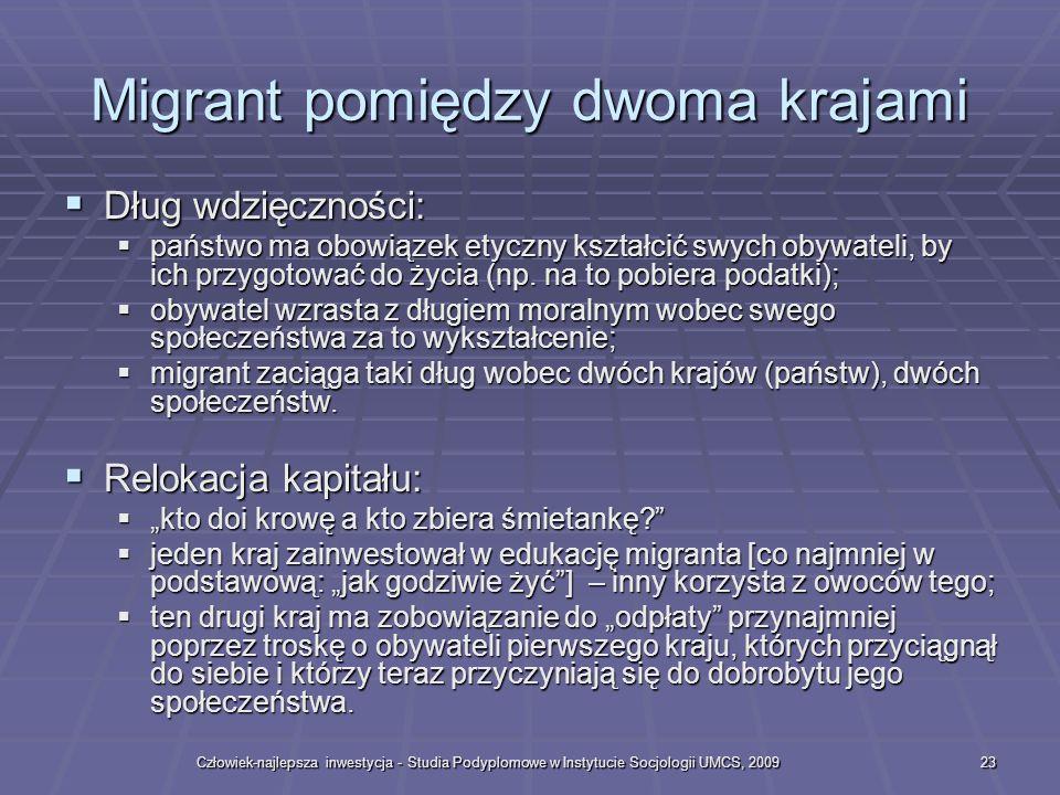 Migrant pomiędzy dwoma krajami
