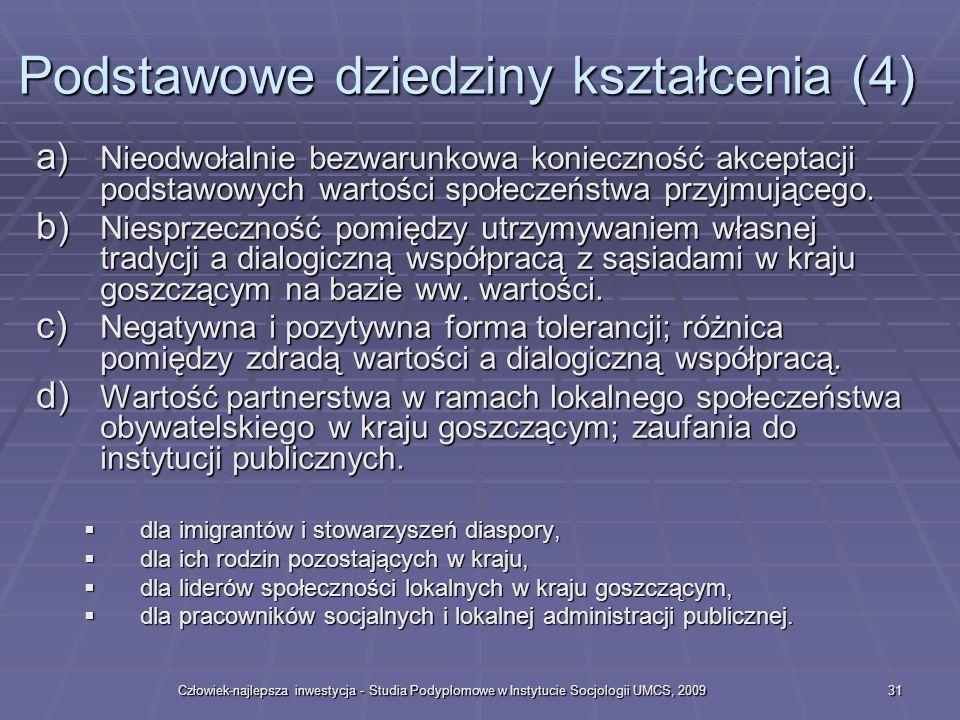 Podstawowe dziedziny kształcenia (4)