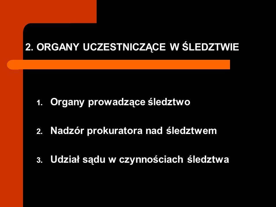 2. ORGANY UCZESTNICZĄCE W ŚLEDZTWIE