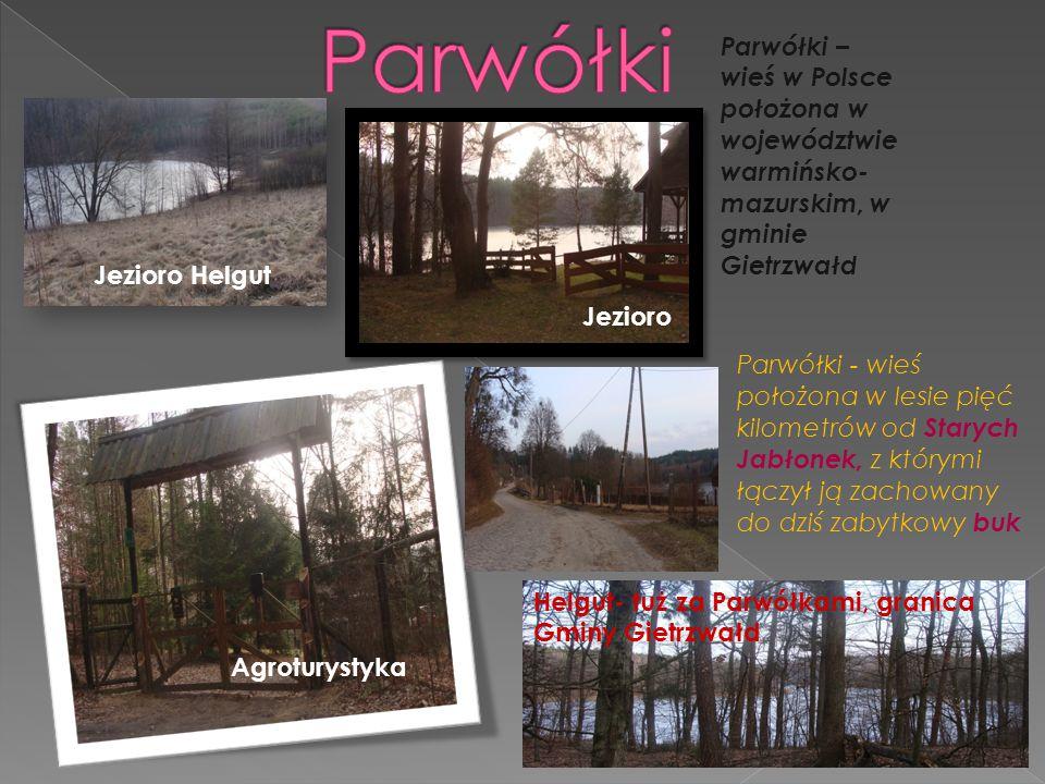 Parwółki Parwółki – wieś w Polsce położona w województwie warmińsko-mazurskim, w gminie Gietrzwałd.