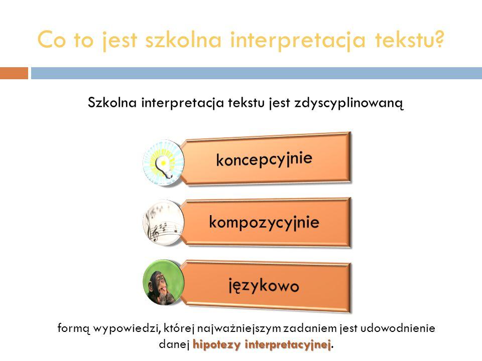 Co to jest szkolna interpretacja tekstu