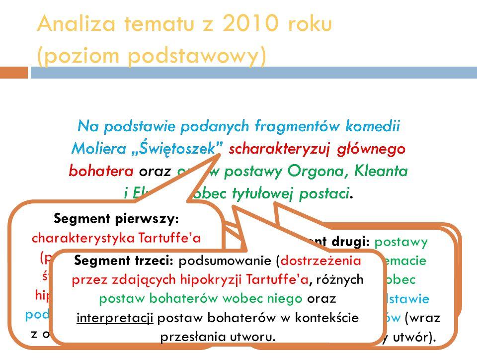 Analiza tematu z 2010 roku (poziom podstawowy)