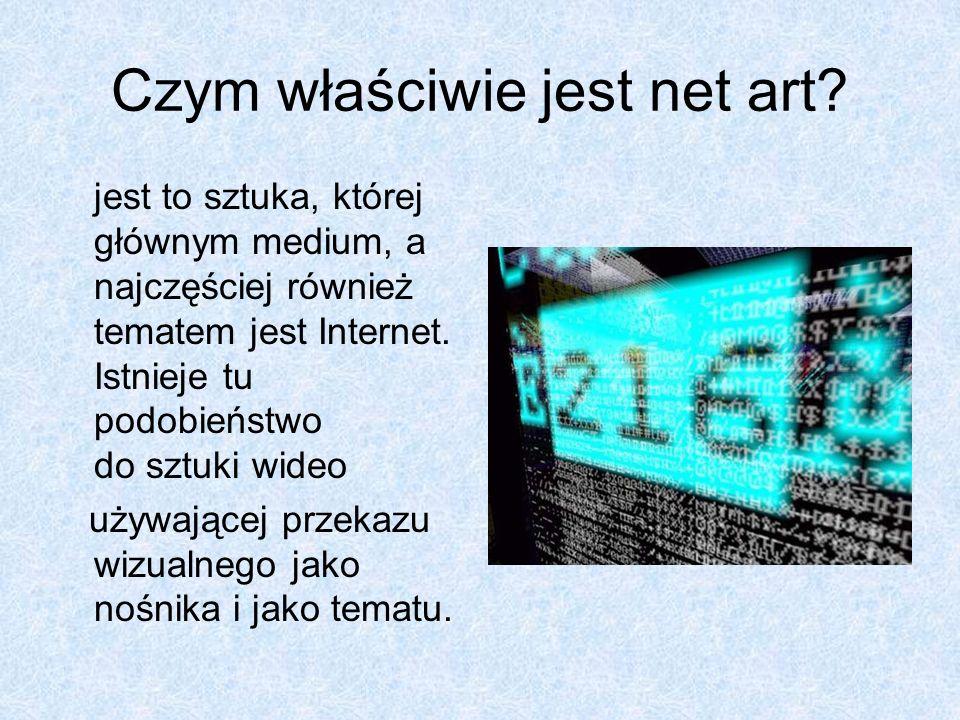Czym właściwie jest net art