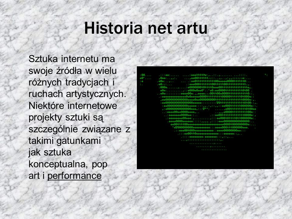 Historia net artu