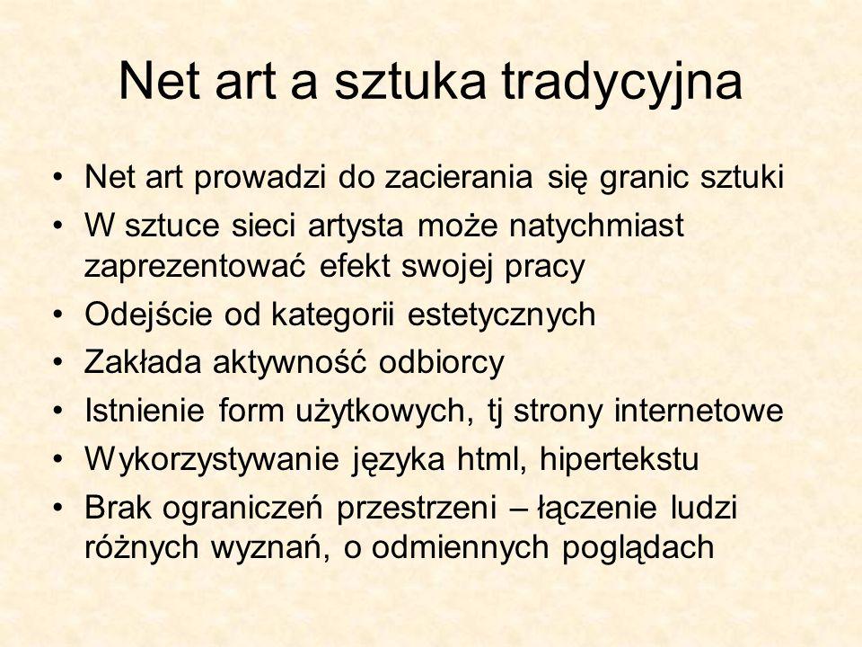 Net art a sztuka tradycyjna