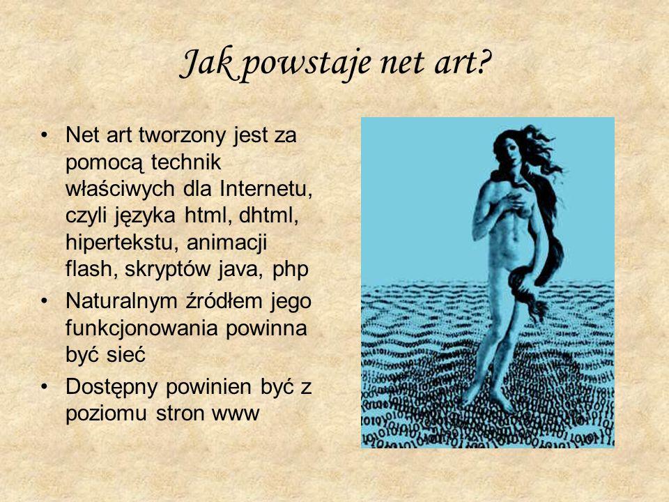 Jak powstaje net art