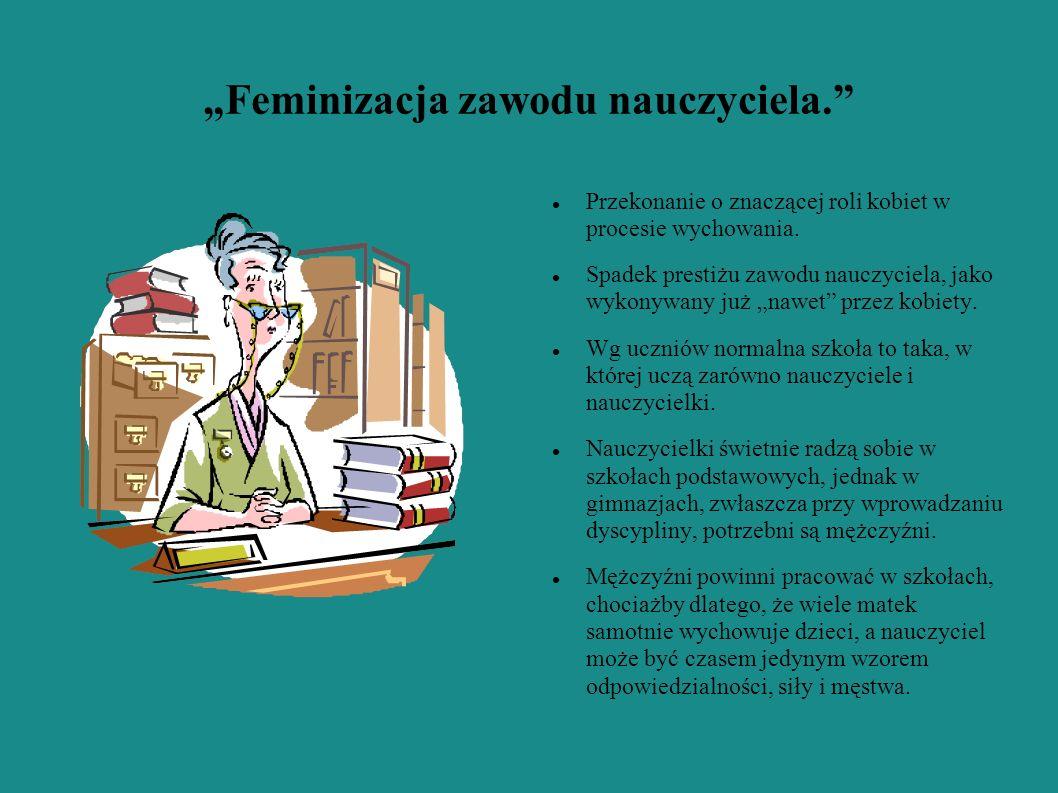 """""""Feminizacja zawodu nauczyciela."""