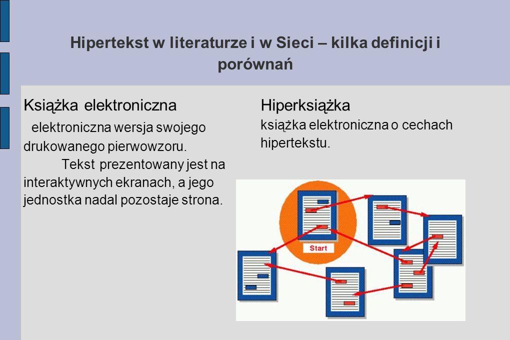 Hipertekst w literaturze i w Sieci – kilka definicji i porównań