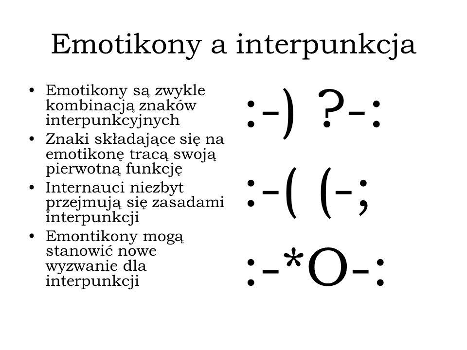 Emotikony a interpunkcja