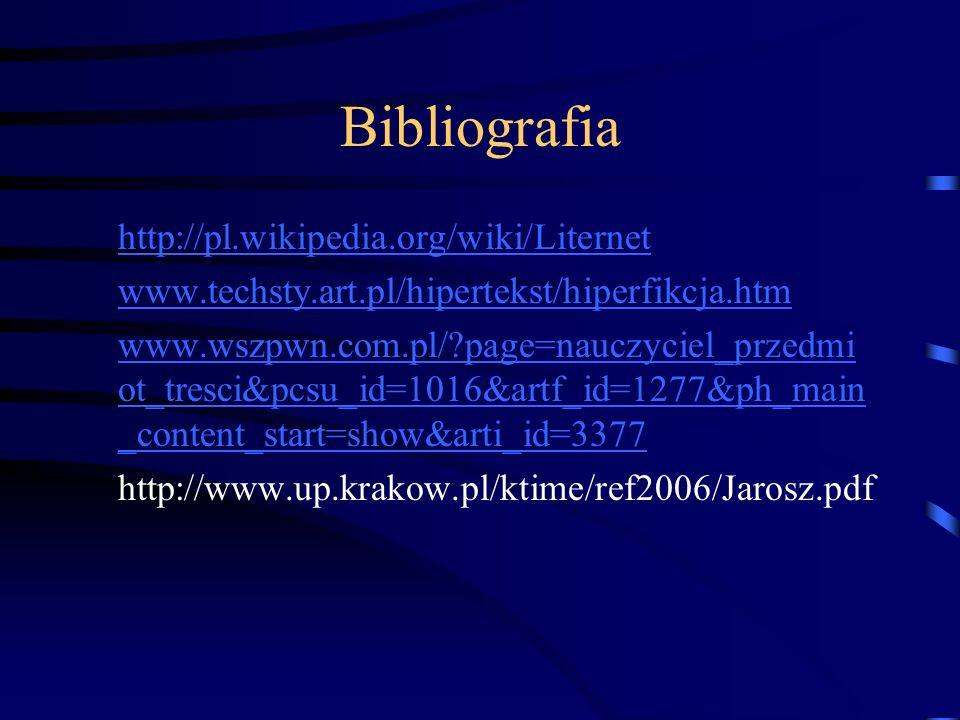 Bibliografia http://pl.wikipedia.org/wiki/Liternet