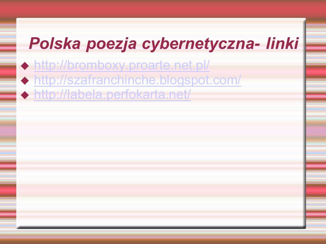 Polska poezja cybernetyczna- linki