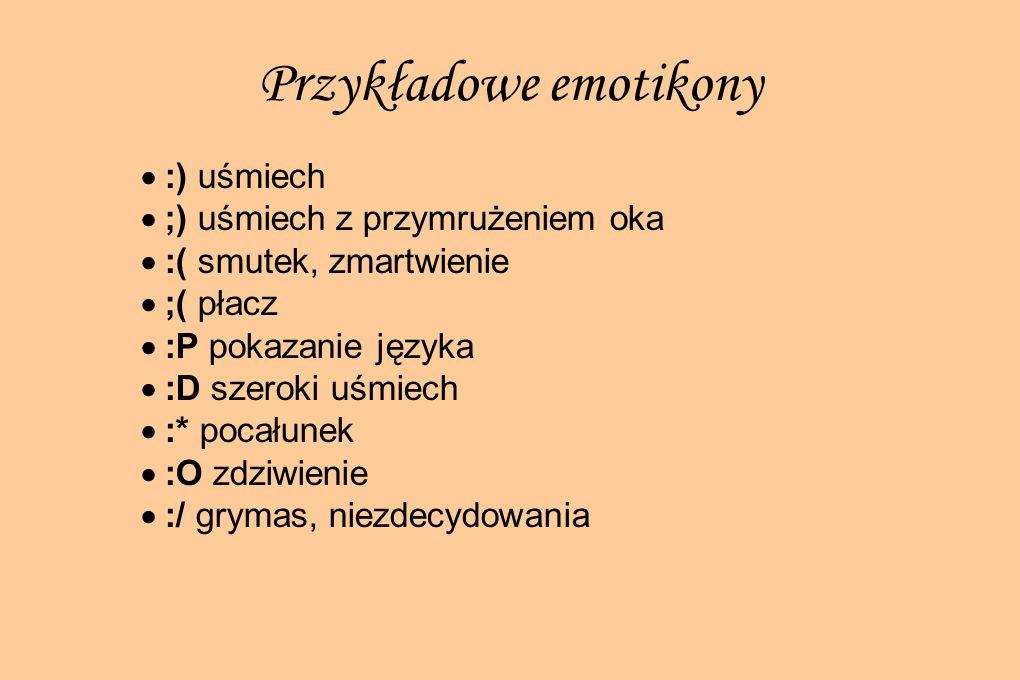 Przykładowe emotikony