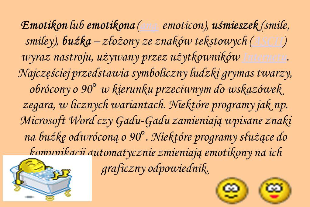 Emotikon lub emotikona (ang