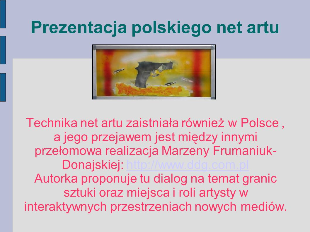 Prezentacja polskiego net artu