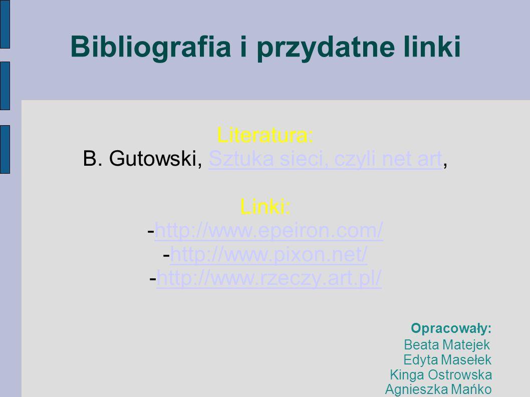 Bibliografia i przydatne linki