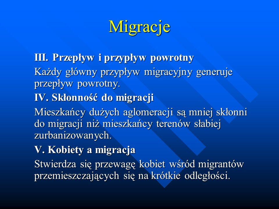 Migracje III. Przepływ i przypływ powrotny