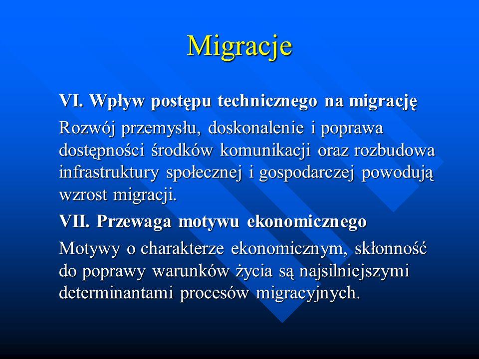 Migracje VI. Wpływ postępu technicznego na migrację